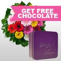 Flowers With Free Chocolates