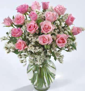 Image of Pink Roses: Anniversary Flower Gift