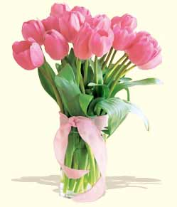 Image of Pink Tulips - Send Anniversary Flowers