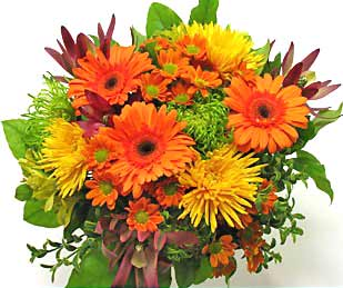 Image of Thanksgiving Flowers in Autumn Colors